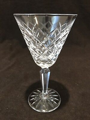 "Waterford Crystal Tyrone Water Goblet Glass 7"" Individually Sold"