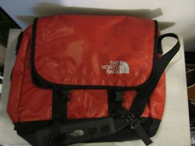 The North Face Messenger Computer Carry On Bag Red Waterproof Large Size