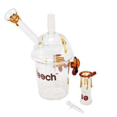 New Che-ech Cup Glass Bong Water Pipe Hookah Tobacco Use 14mm  joint Little feet
