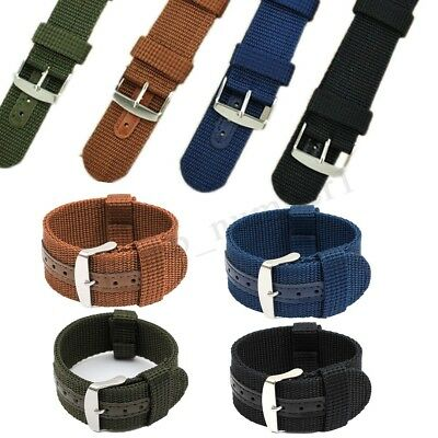 18/20/22/24mm Mens Army Military Nylon Fabric Canvas Watch Band Strap HOT US