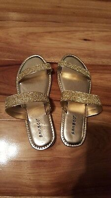 d38d4fd7c Coastline65 Bamboo ~ Rhinestone Slip On Flat Sandal ~ Size 6 ~ Silver or  Gold