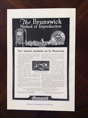 1920 original print ad The Brunswick Phonograph And Record Company