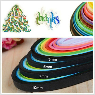 NEW Creative Decro Craft Solid Color Handmade Origami Tool Quilling Paper