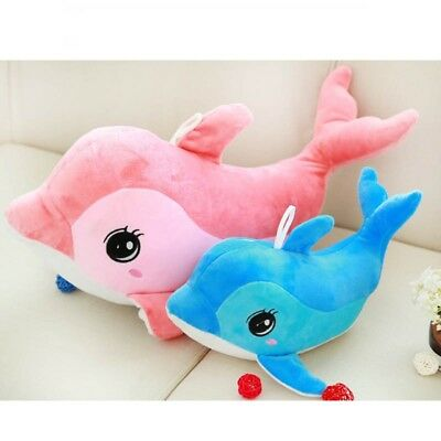 Cute Big Dolphin Plush Toys Kid Toy Waist Cushion Pillow Soft Back Cushion Gifts