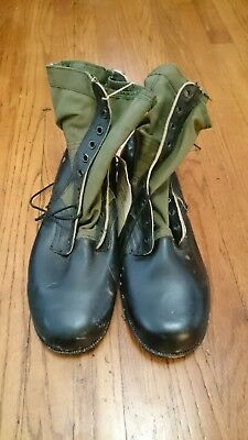 Vintage Vietnam US Military Spike Protective Tropical Combat Boots Sz 13W NOS