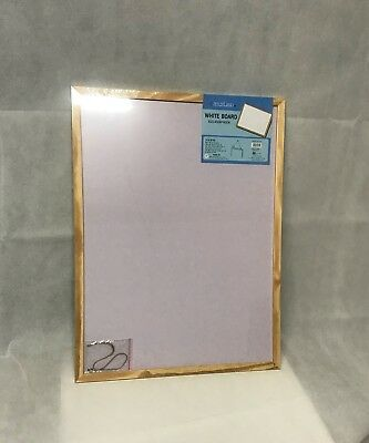 NEW 1pc Office Whiteboard Notice Sign Board White Board Wooden Frame 45x60 cm