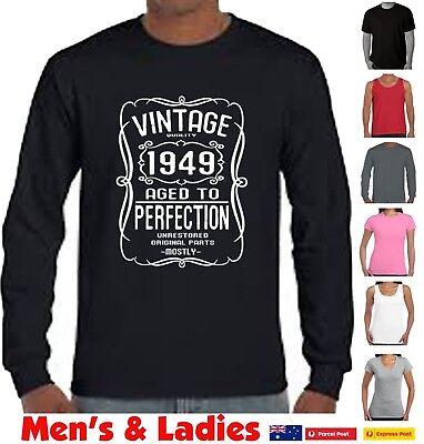 70th Birthday 70 Years Old Gift Present T Shirt Vintage Funny Tshirts 1949 Tee
