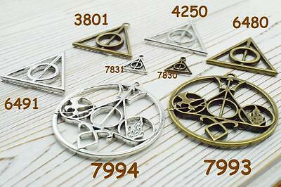 20pcs Harry Porter and the Deathly Hallows alloy charms  ,triangle charm pendant