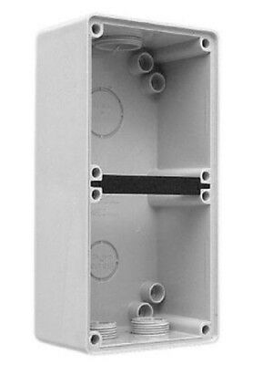 Clipsal INDUSTRIAL MOUNTING ENCLOSURE 198x101x63mm 2-Gang, Grey *Aust Brand