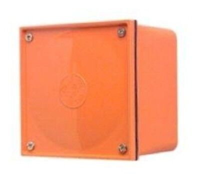 Clipsal PVC ADAPTABLE BOX Orange *Australian Brand- 77x77x54mm Or 108x108x76mm