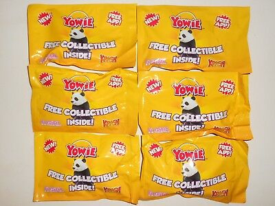 6x Rare Lot of YOWIES Animal Figures in Blind Bag Packets