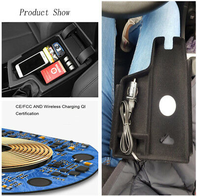 Wireless Car Quick Phone Charger & Storage Box for BMW 3 series F30 F31 F32 F34