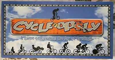 'Cycle-Opoly' Cycling Monopoly Board Game. COMPLETE! LIKE NEW! Made in USA