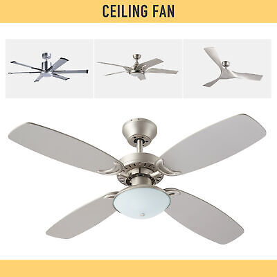 """52"""" 56'' Indoor Ceiling Fan with LED Light Remote Control Nickel / Bronze finish"""