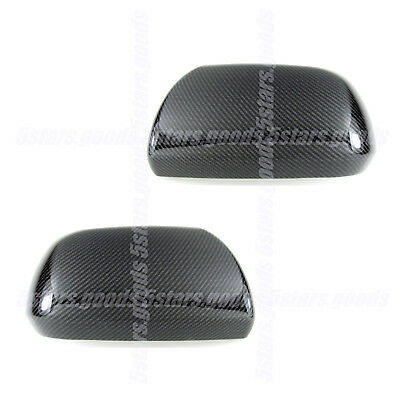 Glossy Carbon Fiber Side Mirror Covers Trims For 2011-2019 Toyota Sienna