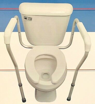 Safety support Frame fixed support over toilet assist