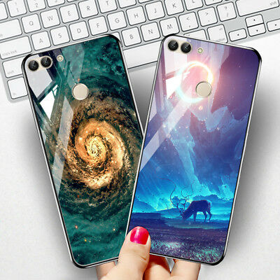 Tempered Glass Case Cover for Huawei Y9 Y5 Y7 Prime 2018 Mate 10 Lite Cases