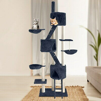 Multi Level Cat Tree Tower House Scratching Post Sisal Pole Pet Cave Furniture