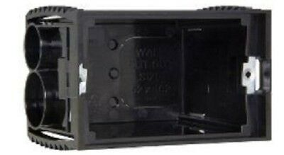 Clipsal MOULDED PLASTIC WALL BOX 98x70x61mm 1-Gang 2-Inlets, Black *Aust Brand