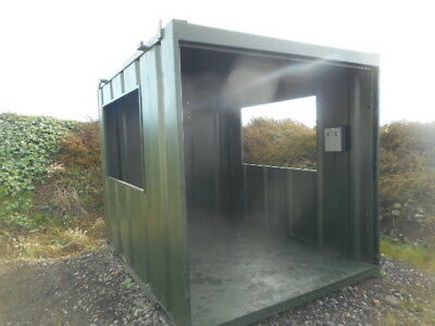 10' x 8' steel smoking shelter anti vandal office container £1300 + VAT
