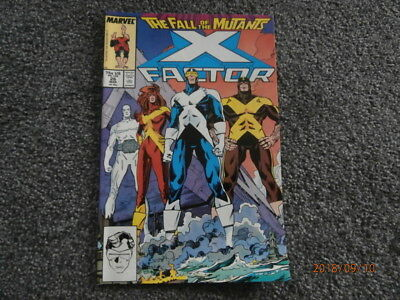 The Fall of the Mutants X Factor. Vol 1 No. 26. A Marvel comic.