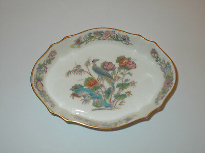 Wedgwood Bone China Trinket Pin Dish Tray Kutani Crane Lovely