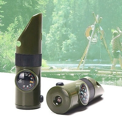7-in-1 Tactical Whistle Outdoor Camping Survival Pfeife and More Ausrüstung~~~