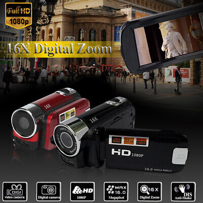 "HD 1080P 16MP 2.7"" 16x Zoom LCD Digital Video Camera DV Camcorder RED"
