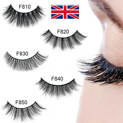 💙NEW 5Pair 3D Mink False Eyelashes Wispy Cross Long Thick Soft Fake Eye Lashes