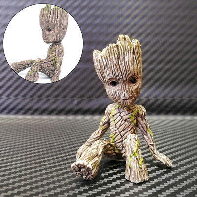 "Cute 2"" Guardians of The Galaxy Vol. 2 Baby Sitting Groot Action Figure Toy Gift"