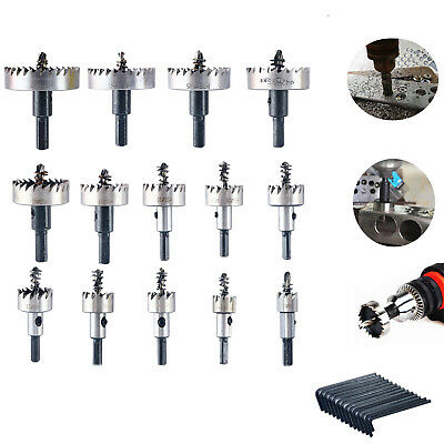 HSS Steel 14pc Hole Saw Tooth Drill Bit Set Cutter Tool for Metal Wood Alloy≤2mm