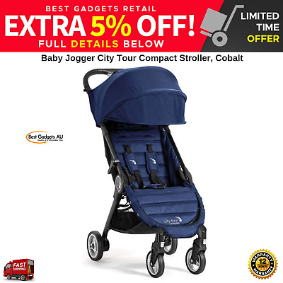Baby Jogger City Tour Compact Stroller Cobalt Lightweight Compact Foldable NEW