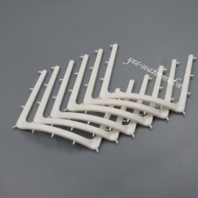 10 Pcs Dental Autoclavable Plastic Rubber Dam Frame Holder U Shape Adult White