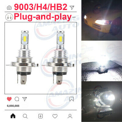 CREE H4 HB2 9003 55W 8000LM LED Headlight Kit Hi/Lo Power Bulb 8000K Ice Blue
