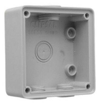 Clipsal INDUSTRIAL MOUNTING ENCLOSURE 101x101x38mm 1-Gang Shallow Model, Grey