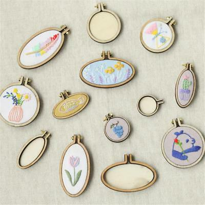 DIY Mini Wooden Cross Stitch Embroidery Hoop Ring Frame Machine Fixed Tool