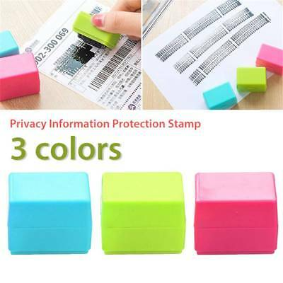 2PC/SET ID Stamp Identity Theft Protection Document Guard Self Ink Stamps Roller