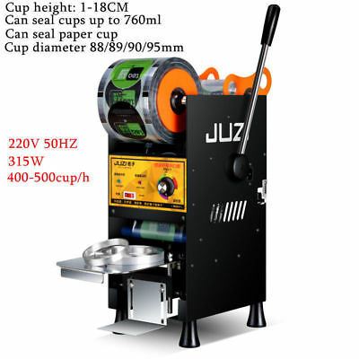 220V Semi-automatic Cup Sealing Machine Hand Press Milk Tea Cup Capper Sealer