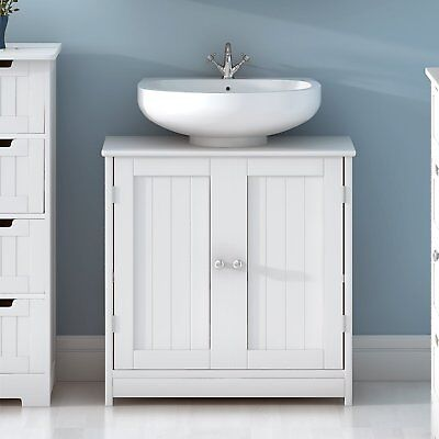 Wondrous Bathroom Under Sink Cabinet Sink Cabinet 2 Doors Cupboard Washroom Storage Unit Download Free Architecture Designs Embacsunscenecom