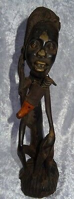 1950's Vintage Makonde African Tribal Witch Doctor Ebony Timber Fetish Carving