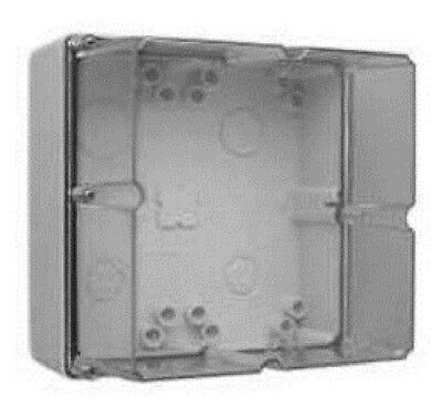 Clipsal INDUSTRIAL ADAPTABLE ENCLOSURE 198x198x140mm 4-Gang With Gear Tray, Grey