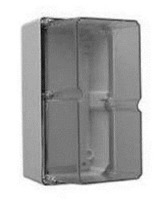 Clipsal INDUSTRIAL ADAPTABLE ENCLOSURE 198x101x140mm 2-Gang With Gear Tray, Grey