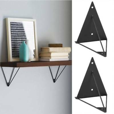 2pcs Durable Wall Shelf Brackets Hairpin Metal Bathroom Prism Mount Support