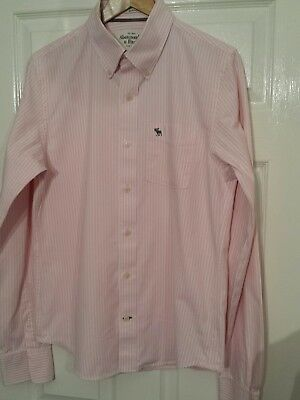 "Mens Ambercrombie & Fitch Striped Shirt,80's Casuals,21""ptp,medium, Total Stunne"