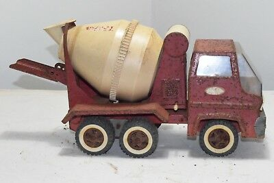 Vintage Tonka Toy Truck Cement Mixer Gas Turbine Pressed Steel Mound MINN 1960's