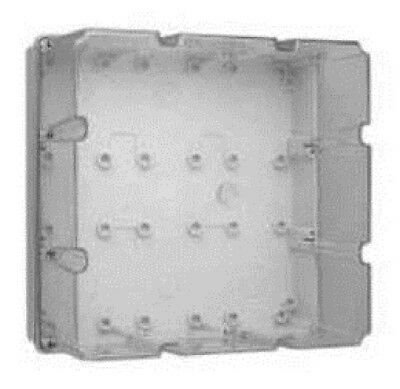 Clipsal INDUSTRIAL MOUNTING ENCLOSURE 294x294x180mm 9-Gang With Gear Tray, Grey