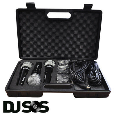 Soundlab Dynamic Vocal Karaoke Kit with 3 Microphones, 2.8m Leads and Carry Case