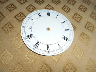 "Round Paper Clock Dial-3 3/4"" M/T with Outer Minute Numerals-Roman-Spares /Parts"