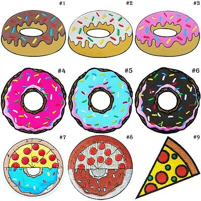 Doughnut Donut Foods Pizza Tomato Pretty Sweet Toppings Bread iron on patches #1