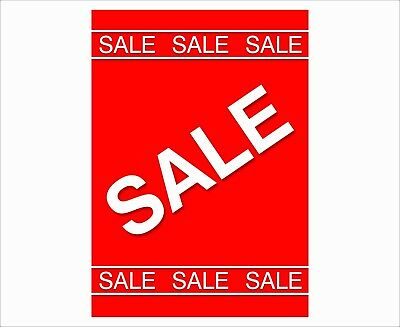 Sale Now On Posters - Window Sign - Choose Colour/Size - Free Uk P&P 001